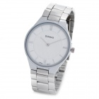 Men's Fashion Alloy Quartz Wrist Watch - Silver (1 x LR626)