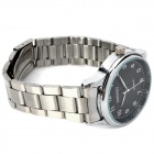 Fashion Quartz Wrist Watch - Black + Silver (1 x LR626)