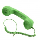 Anti-Radiation Retro Telephone Style Handset with Microphone for Iphone - Green (3.5mm Audio Jack)