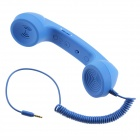 Anti-Radiation Retro Telephone Style Handset with Microphone for iPhone - Blue (3.5mm Audio Jack)