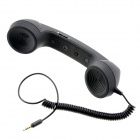 Anti-Radiation Retro Telephone Style Handset with Microphone for iPhone - Black (3.5mm Audio Jack)
