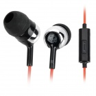 Stylish In-Ear Earphone with Microphone for iPhone 4 / 4S - Red + Black + Silver