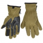 Outdoor Sports Warm Keeping Non-slip Long Fingers Gloves - Grass Green + Black