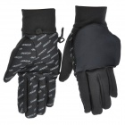 WONNY Outdoor Sports Long Fingers Non-slip Gloves - Black