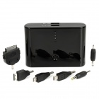 "ZNDA DS-12000B Rechargeable ""12000mAh"" Battery Charger w/ Adapters for Cell Phone + More - Black"