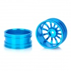 52.6mm Aluminum Alloy 12-Spoke Wheel Hub for 1:10 R/C On-road Car - Light Blue (2-Piece Pack)
