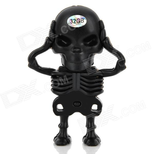 Creativa Skeleton estilo USB 2.0 Flash Drive - Negro (32 GB)