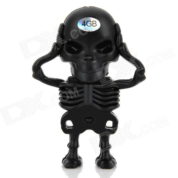 Criativa Skeleton Style USB 2.0 Flash Drive - Black (4GB)