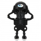 Creative Skeleton Style USB 2.0 Flash Drive - Black (4GB)