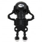 Creative Skeleton Style USB 2.0 Flash Drive - Black (8GB)