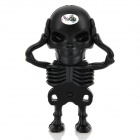 Creative Skeleton Style USB 2.0 Flash Drive - Black (16GB)