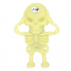 Creative Skeleton Style USB 2.0 Flash Drive - Light Yellow (4GB)