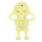 Creative Skeleton Style USB 2.0 Flash Drive - Light Yellow (8GB)