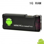 AK802 Mini Android 4.0 Media Player w/ US Plug / Wi-Fi / HDMI / TF / USB - Black (4GB / 1GB DDR III)