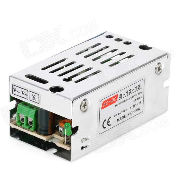 12V 1A Power Supply Transformer for Direct Current Bulb - Silver (AC 100~220V) professional switching power supply 320w 12v 26 7a manufacturer 320w 12v power supply transformer