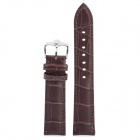 Cow Leather Sweat-Resistant Wristwatch Strap Watchband - Deep Brown (8.8 x 2.0 x 0.2cm)