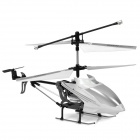 Rechargeable 3-CH Move Motion IR R/C Helicopter w/ Gyroscope - Black + White + Silver