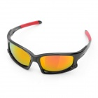 OREKA UV400 Protection Fashion Red REVO Resin Lens Polarized Sunglasses - Black + Red