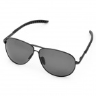 Classic UV400 Protection Sunglasses w/ PU Leg (Black Frame)