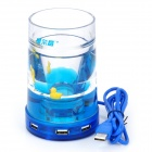 Multi-Function Desk Pen Holder with LED RGB Light / USB 2.0 4-Port Hub