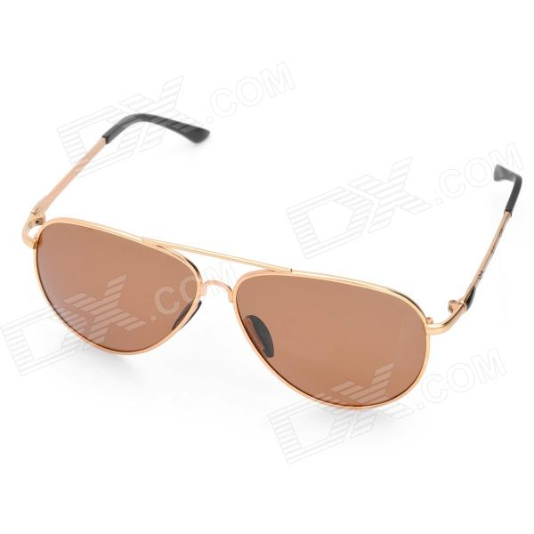 Classic UV400 Protection Sunglasses (Golden Frame) clip on uv400 protection resin lens attachment sunglasses small