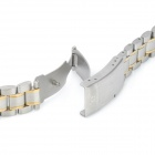 QG-7 Stylish Stainless Steel Wrist Watch Band - Silver + Golden