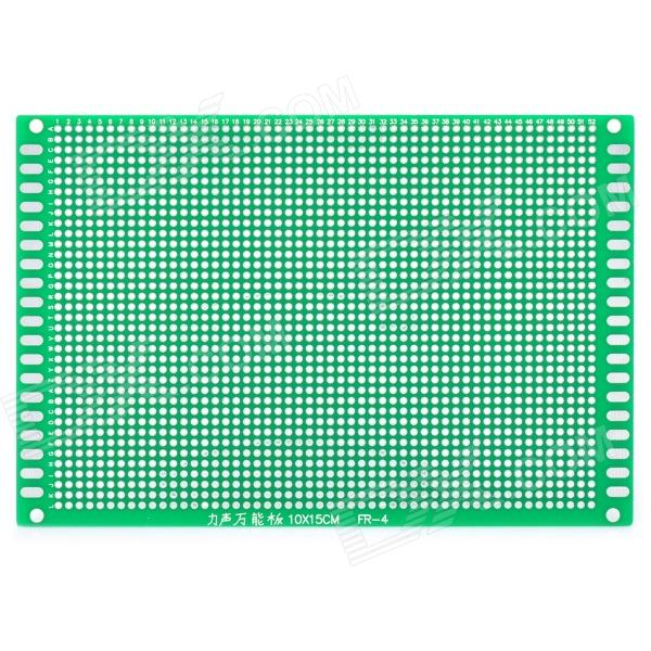 Universal DIY Double-Sided Glass Fiber Board - Green double sided glass fiber prototyping pcb universal board 10 x 16