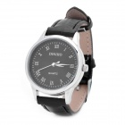 DINIKO Fashion Lady's PU Leather Band Stainless Steel Dial Quartz Wrist Watch - Black (1 x LR626)