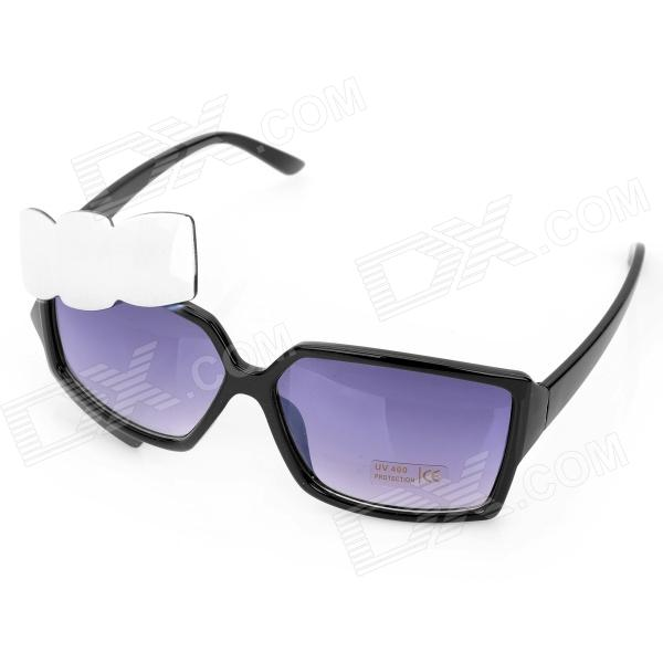 Fashion Butterfly Shape UV400 Protection Resin Lens Sunglasses - Black