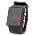 SKMEI Fashion Square Mirror Digital LED Wrist Watch - Black (1 x CR2025)