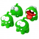 Cut the Rope Monster Figures Style Vinyl Coin Banks - Green (4-Piece Pack)