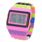 Bunte Rainbow LED Fashion Armbanduhr - Multi-Colored (1 x LR626)