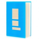 CREATIVE DOTBOOK Notepad w/ Silicone Cover - Blue + White (Approx 100 Pages)