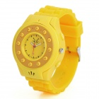 C5 GSM Wrist Watch Phone for Kids w/ Quad-Band, Bluetooth V2.0 and Single-SIM - Yellow