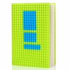 CREATIVE DOTBOOK Silicone Notepad w/ Silicone Cover - Green + Blue (Approx 100 Pages)