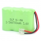 Delipow 700mAh 3.6V 2/3AA Rechargeable Ni-MH Battery for Cordless Telephone - White + Green (2-pack)