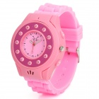 C5 GSM Wrist Watch Phone for Kids w/ Quad-Band, Bluetooth V2.0 and Single-SIM - Pink