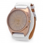 Fashion PU Leather Band Quartz Wrist Watch - White (1 x SR626)