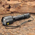 Recoil Cree XR-E Q5 200LM 3-Mode White Light Flashlight - Black (1 x 18650)