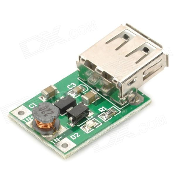 USB DC 1~5V to DC 5V Voltage Step Up Boost Module - Green dc dc converter step up boost module 3v to 5v boost circuit board 3a