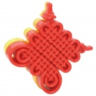 Stylish Chinese Knot IQ Magic Cube - Red + Yellow