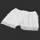 2-in-1 Fashion Lace Cake Skirt / Short Pants - White