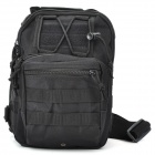 Multifunction Outdoor Travel 600D Waterproof One-Shoulder Bag - Black