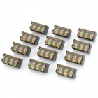 300V 10A 3-Pin Screw Terminal Block Connector w/ Cover (12-Piece Pack)