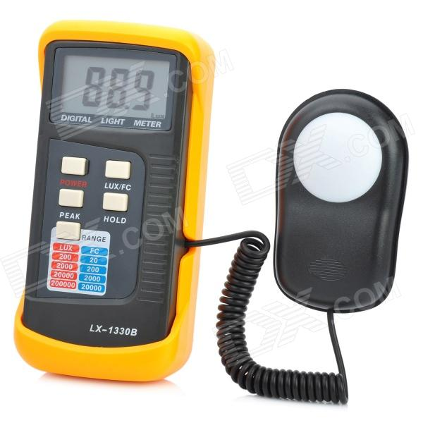 2.3 LCD Digital Light Meter - Red + Black (1 x 9V) 2 1 lcd portable 3 mode digital illuminance light meter 100000lux 1lux 1 x 6f22