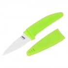Chic Nanometer Zirconia Ceramic Knife w/ Sheath - Green + White (7.5cm-Blade)