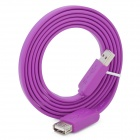 USB Male to Female Extension Flat Cable - Purple (1.5M)