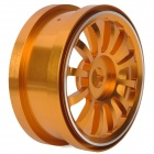 1:8 Off-Road Vehicle Car 12-Spoke Aluminum Alloy Wheel Rim - Golden
