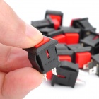 DIY Push Button NO Normally Open Switch - Red + Black (20-Piece Pack)