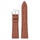 Crocodile Skin Pattern Cow Leather Wristwatch Strap Watchband - Light Brown (8.8 x 2.2 x 0.2cm)